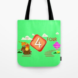 Number four - Kids Art Tote Bag