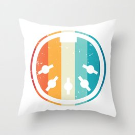 MIDI Cable Synthesizer electronic music Throw Pillow