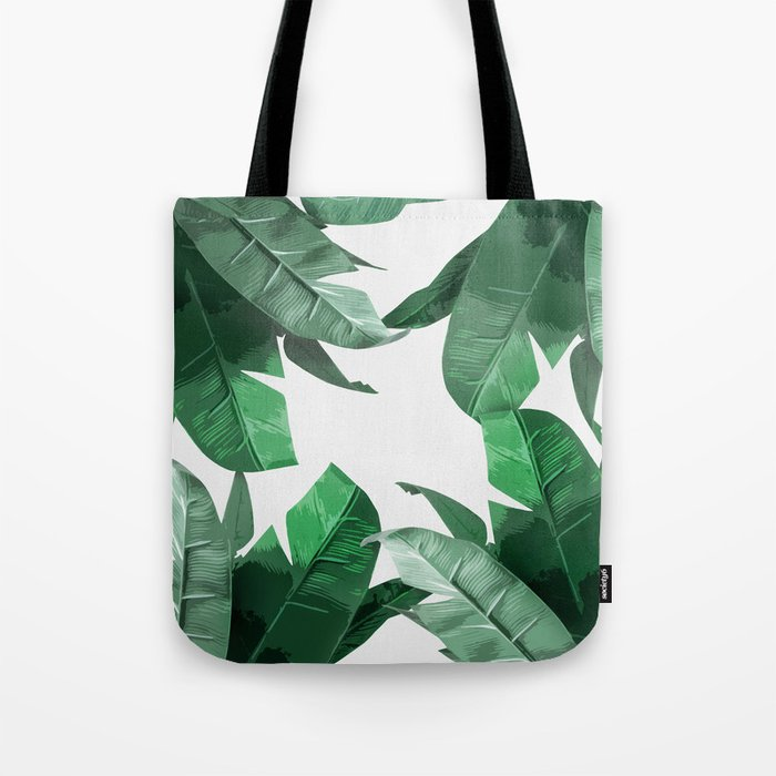 Tropical Palm Print Tote Bag By Tamsinlucie Society6