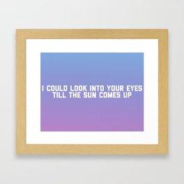 Afire Love Framed Art Print