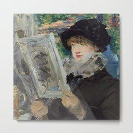 "Édouard Manet ""Woman Reading"" Metal Print"