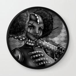 Black Harlequin  Wall Clock