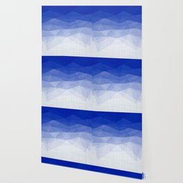 Imperial Lapis Lazuli - Triangles Minimalism Geometry Wallpaper