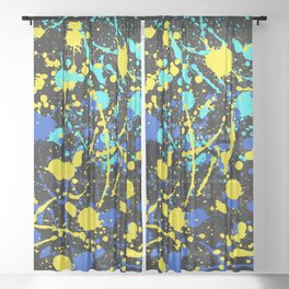 Abstract Creative Splashes Sheer Curtain