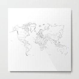 Paint your World Map Metal Print