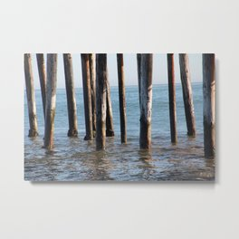 Ocean Boardwalk Metal Print