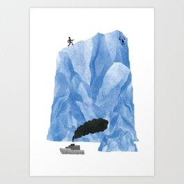 The Living Iceberg Cousin Art Print