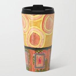 Flying Orange Circles Travel Mug
