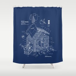Trojan Rabbit Shower Curtain