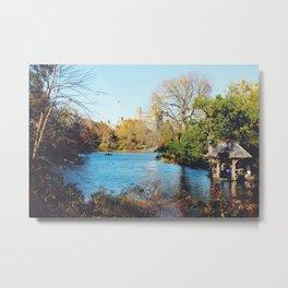 Central Park Lake Metal Print