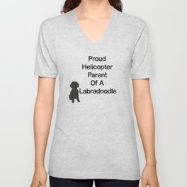 Proud Parent Of A Labradoodle Unisex V-Neck