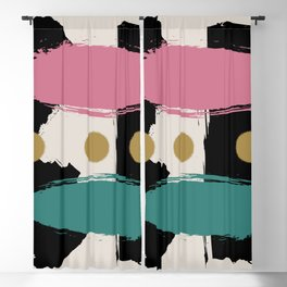 Midcentury Abstract 'Duality' Blackout Curtain