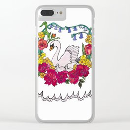 mumma swan Clear iPhone Case