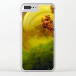 Utopian Landscape Yellow Clear iPhone Case