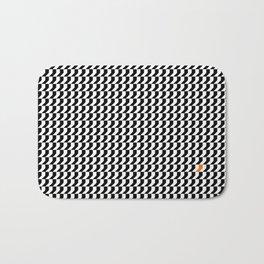 Orange: Black And White Pattern Bath Mat