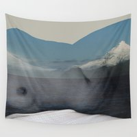 twin peaks Wall Tapestries featuring Twin Peaks by Parissis