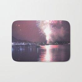 NYE Fireworks in Geelong, Victoria - Australia Bath Mat