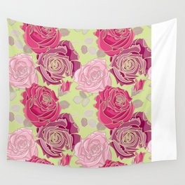 Spring Roses Wall Tapestry