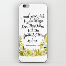 Abide By Faith iPhone Skin