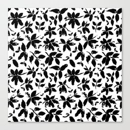 Abstract honeysuckle in black and white Canvas Print