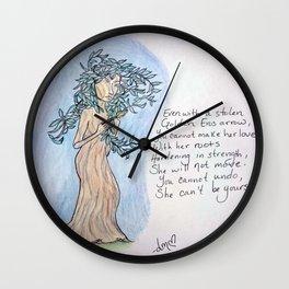 A Daphne Tree Wall Clock