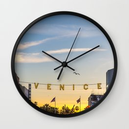 VENICE BEACH FEB 2017 Wall Clock