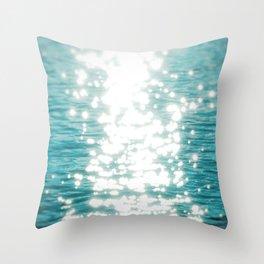 Sun glitter Throw Pillow