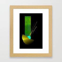 neon petal Framed Art Print
