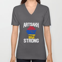 Artsakh Strong - Artsakh Is Armenian  Unisex V-Neck