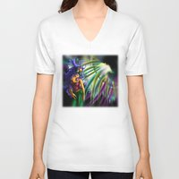 bass V-neck T-shirts featuring Bass by A_Wags