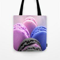 macaroons Tote Bags featuring macaroons by WhimsyRomance&Fun