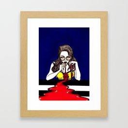 Blood Like Wine 1 Framed Art Print