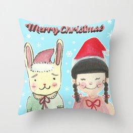 Christmas Friendship Throw Pillow