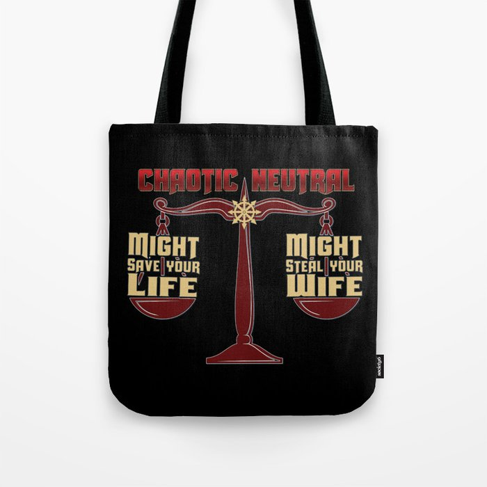 D D Chaotic Neutral Tote Bag By Kennefriggles Society6