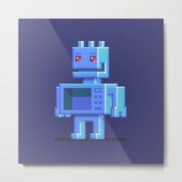 Magnetron pixel robot Metal Print