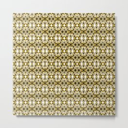 Filigree- Gold the Digital Maori collection Metal Print