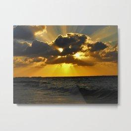 Fan Sunset Metal Print