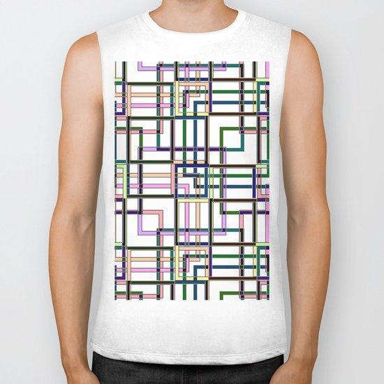 Abstract geometric pattern. Biker Tank