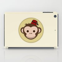 fez iPad Cases featuring Monkey with Fez by JaggedGenius