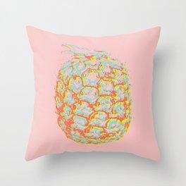 Brit Milah PINEAPPLE - red Throw Pillow