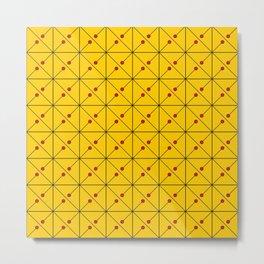 Square Line Doted Art Metal Print