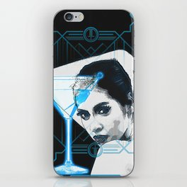 Cyber Martini Girl 2 (design variation) iPhone Skin