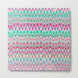 Making Waves Pink and Preppy Metal Print