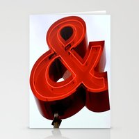 ampersand Stationery Cards featuring Ampersand by Ann Yoo