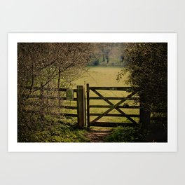 Gate To Bunkers 2 Art Print
