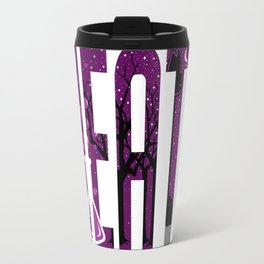 Waiting for the bus in the rain Travel Mug