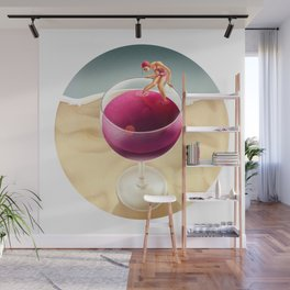 Red Reflection Wall Mural