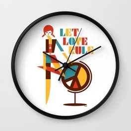 Hippie Chick Wall Clock