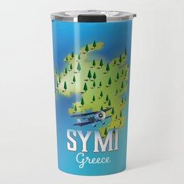 Symi Greece travel map. Travel Mug