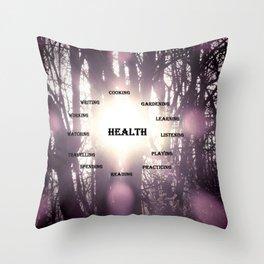 Best Activities Physical Mental Health Purple Sun Throw Pillow